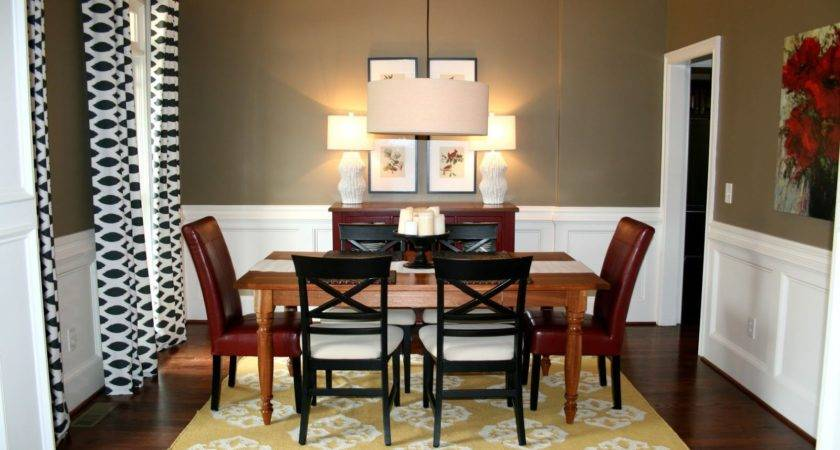 Dining Room Paint Colors Dark Furniture White Spray