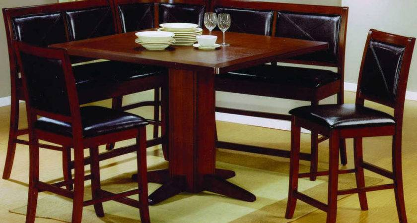 Dining Room Set Counter Height Table Corner Seating New Ebay