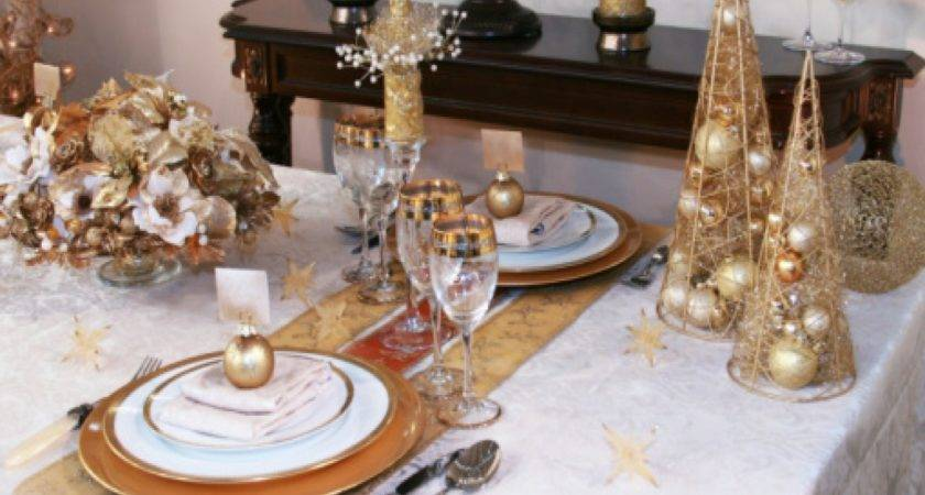 Dining Room Setting Ideas Red Gold Christmas