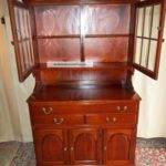 Dining Room Small Cherry Wooden China Cabinets