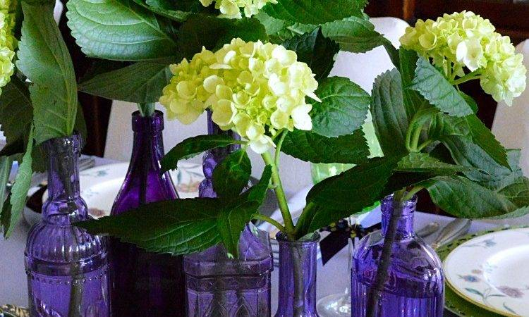 Dining Table Decor Ideas Purple Green Toot Sweet Two