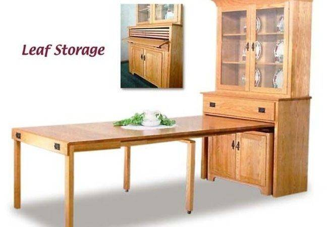 Dining Table Fold Out Cabinet Kitchen Hidden