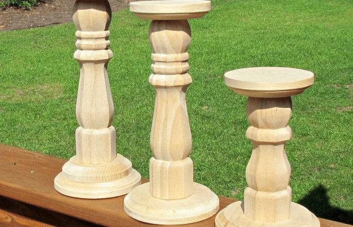 Dip Dyed Wooden Candlesticks Uncommon Designs