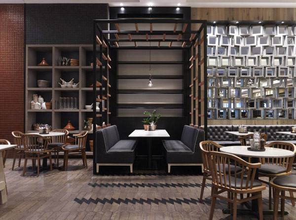 Diversity Warmth Showcased Rustic Cotta Cafe
