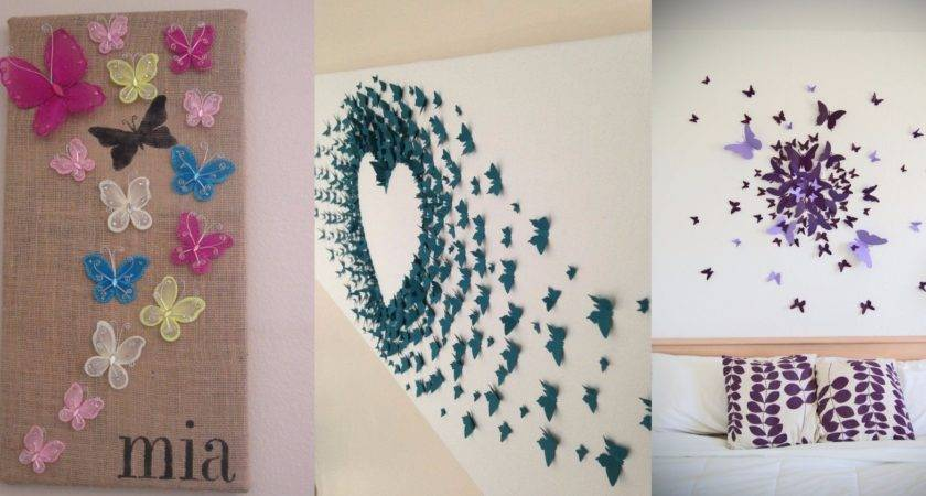 Diy Butterfly Wall Decor Ideas Directions