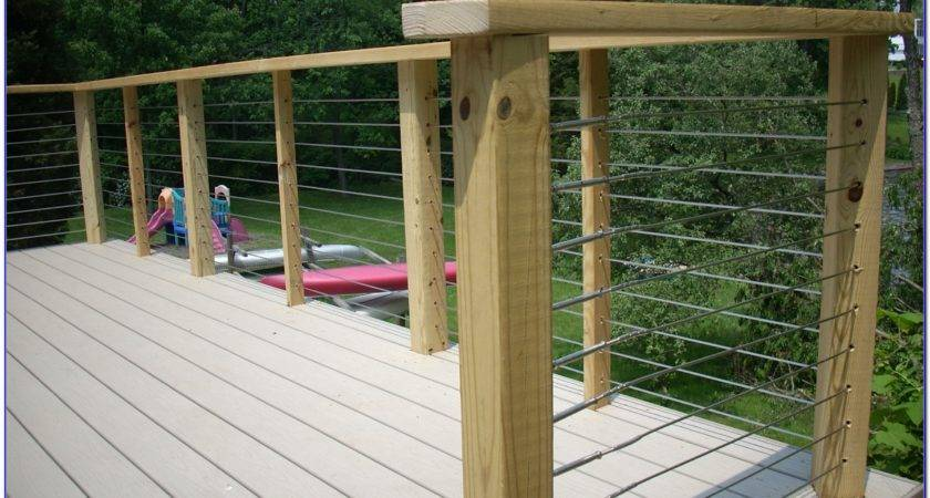 Diy Cable Deck Railing Decks Home Decorating Ideas
