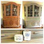 Diy China Cabinet Chalk Paint Makeover Dining
