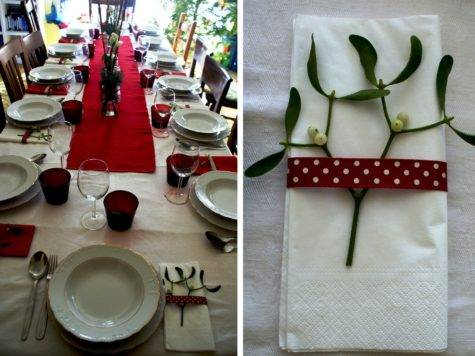 Diy Christmas Table Decorations Red Italian Wedding