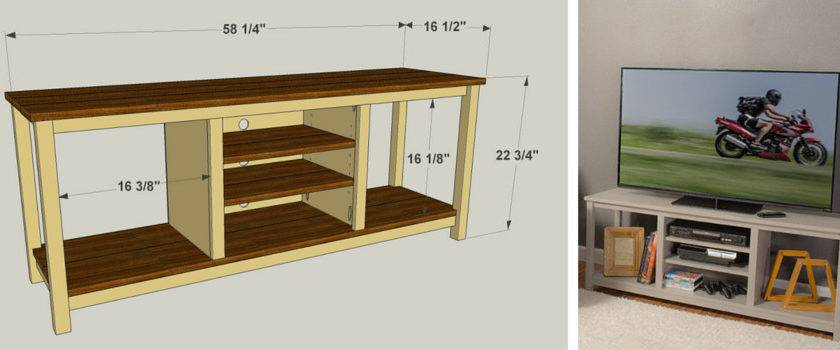 Diy Flat Screen Stand Plans Your Self