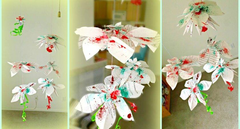 Diy Hanging Flowers Paper Decorations Youtube