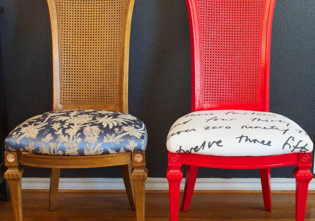 Diy Ideas Spray Paint Reupholster Your Dining Room