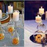 Diy Inverted Wine Glass Centerpieces