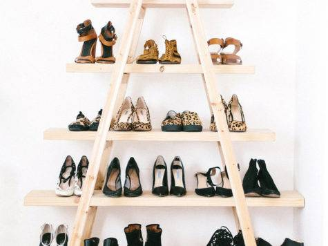 Diy Ladder Shoe Shelf Pair Spare