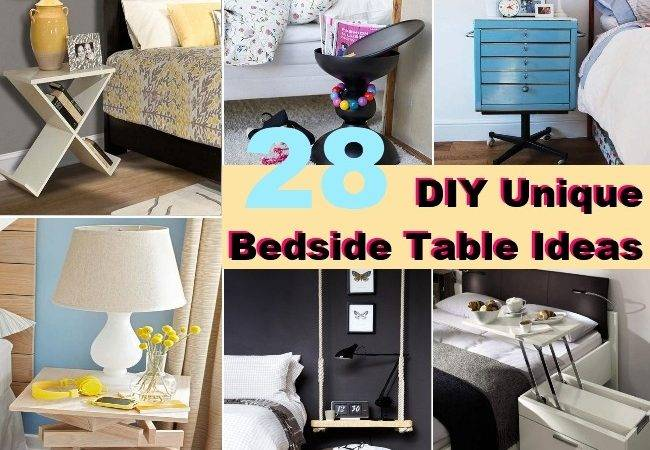 Diy Unique Bedside Table Ideas Diycozyworld Home