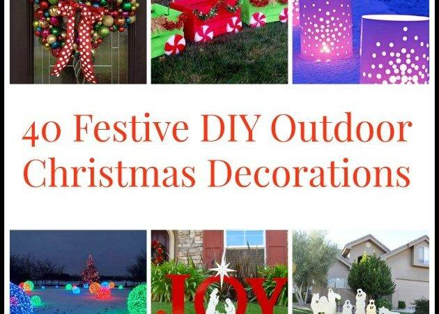 Diyoutdoorchristmasdecorations Bigdiyideas