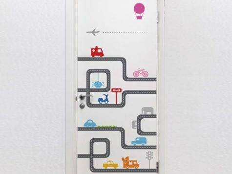 Door Decal Road Decorations