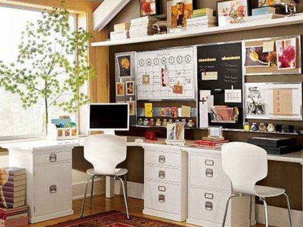 Double Small Home Office Desk Ideas