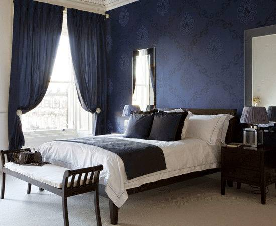 Dramatic Bedroom Navy Designs Curtains
