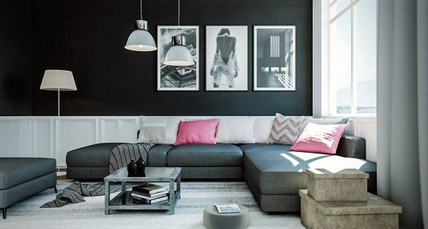 Dramatic Black Ideas Painting Living Room Ifresh