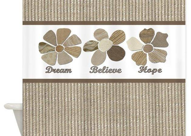 Dream Believe Hope Inspirational Shower Curtain