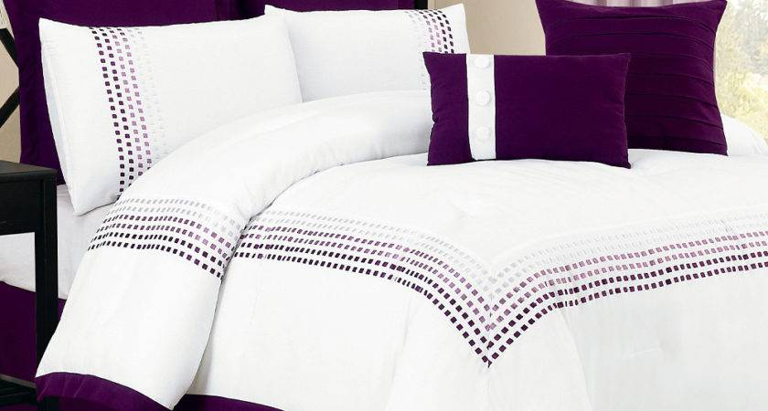 Duck River Textile White Purple Klyne Comforter Set Zulily
