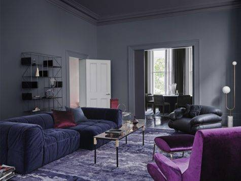 Dulux Colour Forecast Reflect Dark Grey Living Room