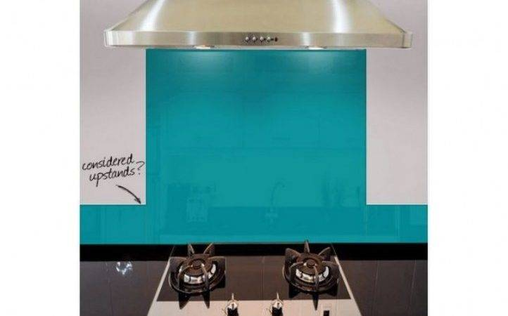 Dulux Teal Touch Bespoke Kitchen Splashback Absolute Home