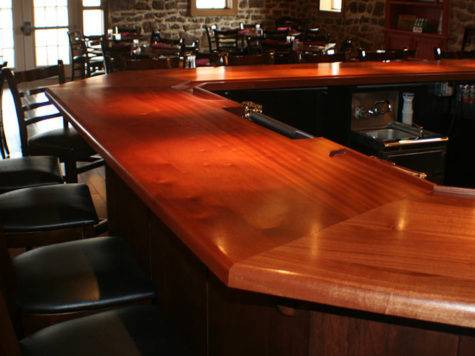 Durata Permanent Waterproof Bar Top Wood Countertop Finish