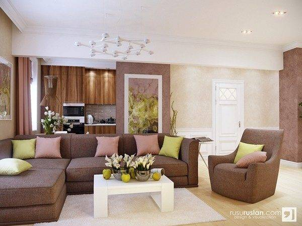 Earth Colors Living Rooms Modern House
