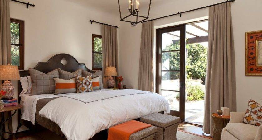 Earth Tone Bedroom Mediterranean Orange