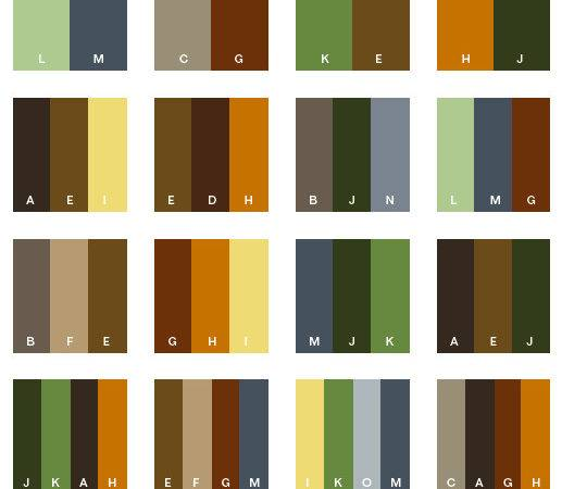 Earth Tone Color Schemes Combinations