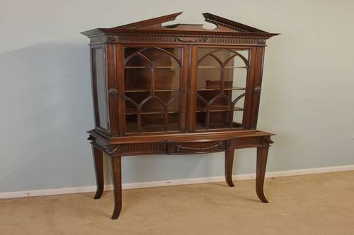 Edwardian Bookcase China Cabinets Small Spaces
