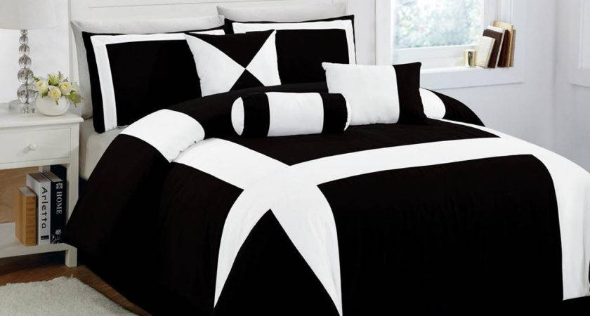 Elegant Black White Comforter Set Small