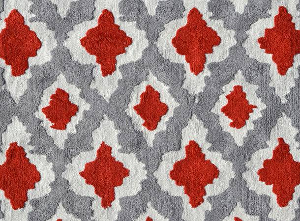 Ethnic Gray Red Rug Pop Accents Rosenberryrooms