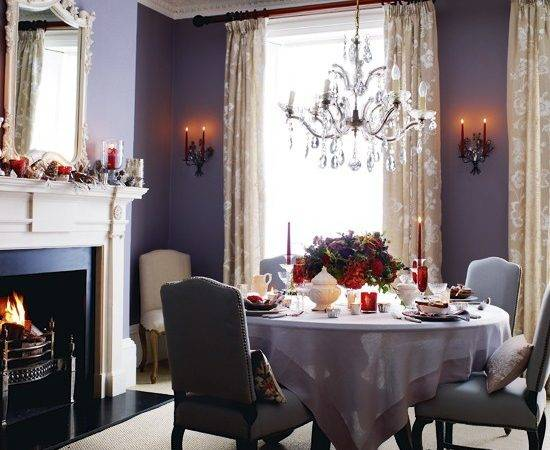 European Purple Dining Room Art New Home Scenery