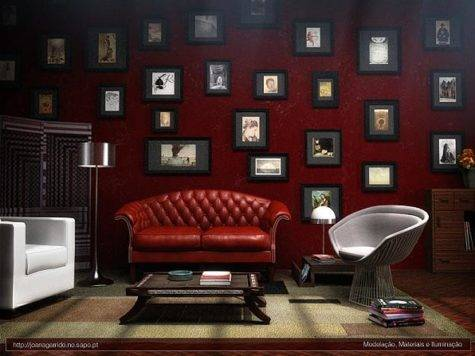 Exellent Home Design Elegant Maroon Living Room