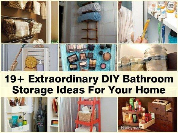 Extraordinary Diy Bathroom Storage Ideas Your Home