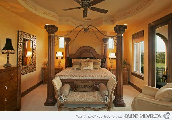 Extravagantly Beautiful Tuscan Style Bedrooms