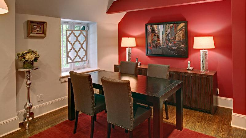 Fab Red Accent Walls Dining Rooms Home Design Lover