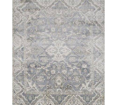 Fae French Antique Wash Slate Grey Bamboo Silk Rug