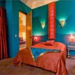 Fair Blue Red Bedroom Decorating Design Bold