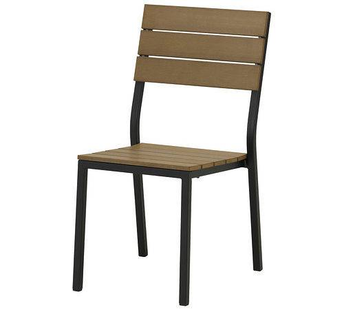 Falster Chair Outdoor Black Brown Ikea