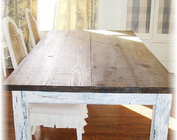 Farm Table Shabby Chic Shipping Kenryandcompany