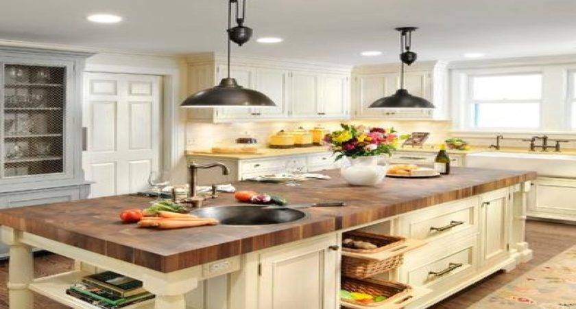 Farmhouse Kitchen Lighting Island