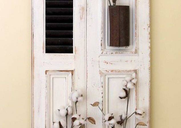Farmhouse Wall Decor Using Old Shutter Hometalk