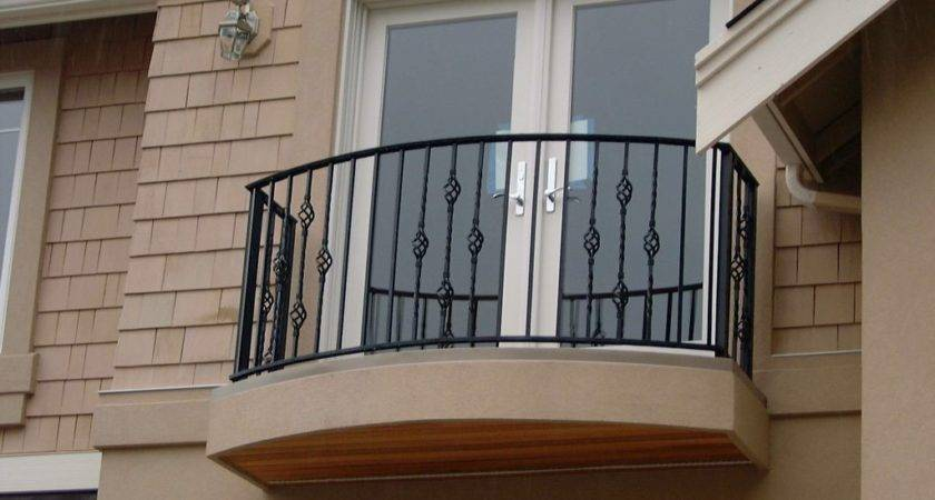 Fascinating Black Iron Balcony Railing Fence Brown Painted