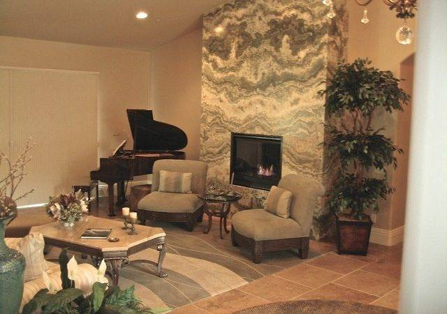 Fireplace After Onyx Feature Wall Contemporary
