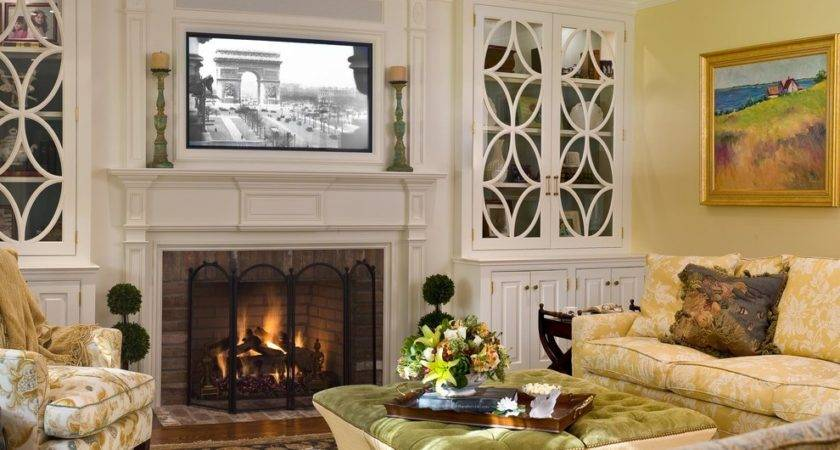 Fireplace Built Ins Living Room Traditional All Time