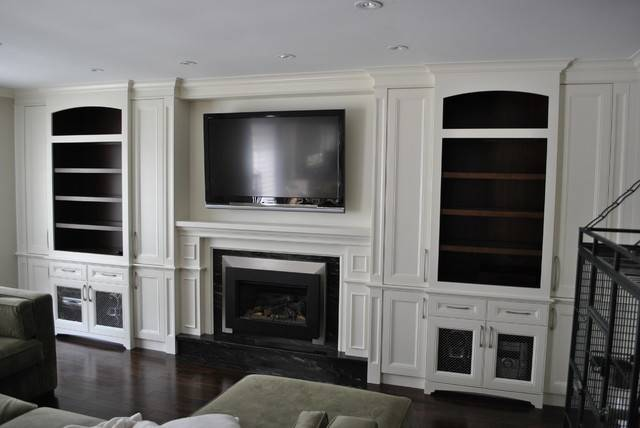 Fireplace Wall Unit Traditional Living Room