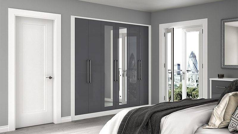 Fitted Bedrooms White Gloss Tobacco Starplan